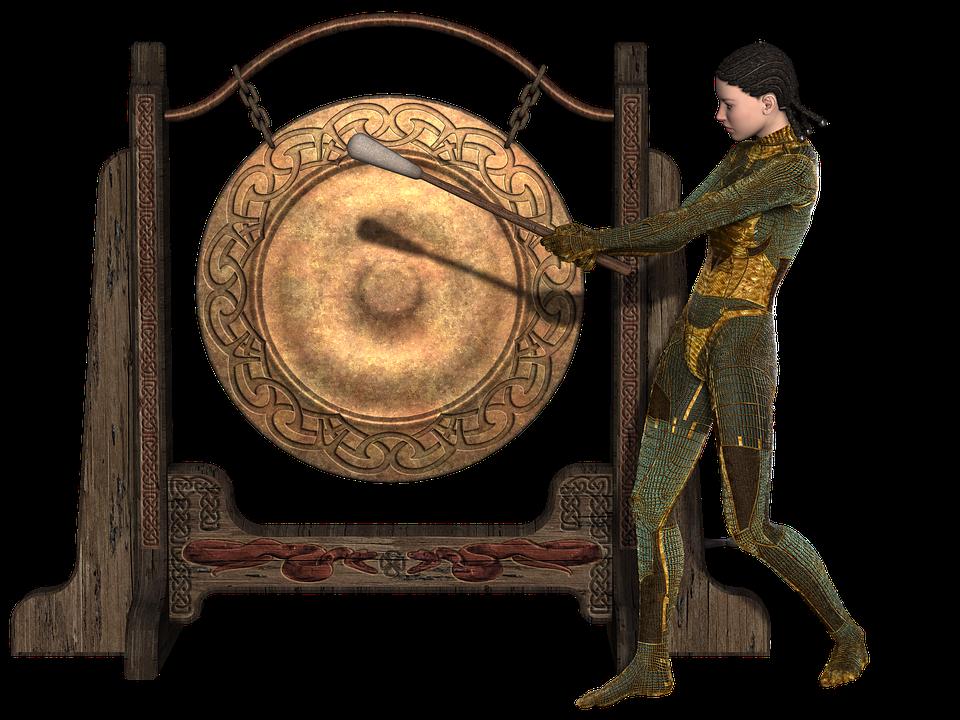como tocar gong