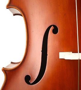 forma f de viola, porque una f en la viola, partes de la viola